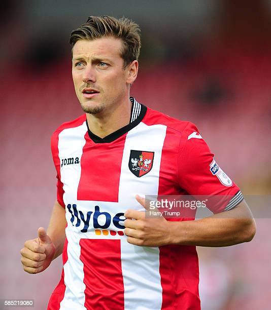 Lee Holmes of Exeter City during the Pre Season Friendly match between Exeter City and Cardiff City at St James Park on July 28 2016 in Exeter England