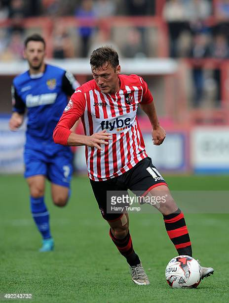 Lee Holmes of Exeter City during the Sky Bet League Two match between Exeter City and Stevenage at St James Park on October 11 2015 in Exeter England