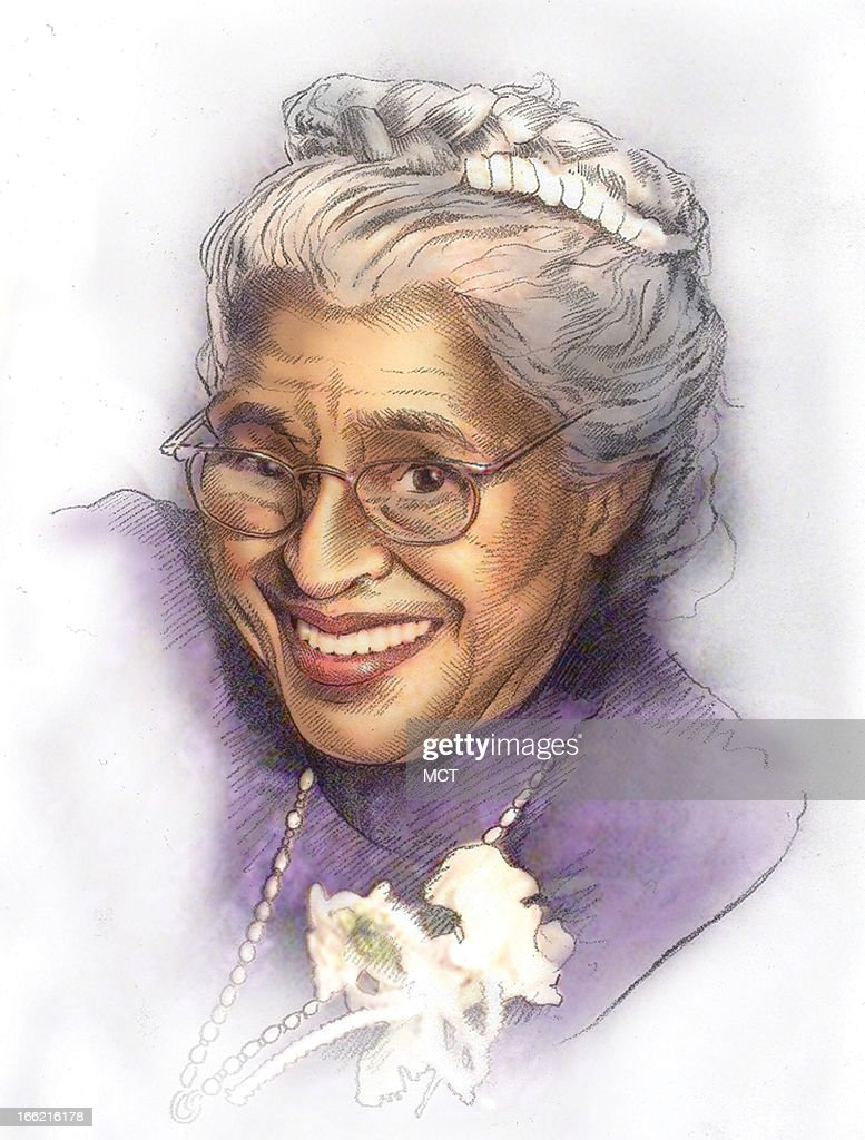 lee hulteng color illustration of civil rights pioneer rosa parks