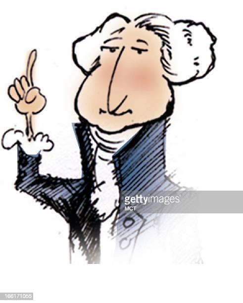 Lee Hulteng color illustration of former US President George Washington