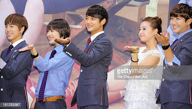 Lee HyunWoo Sulli of f MinHo of SHINee Kim JiWon and Hwang KwangHee of ZEA attend SBS Drama 'To The Beautiful You' press conference at Imperial...