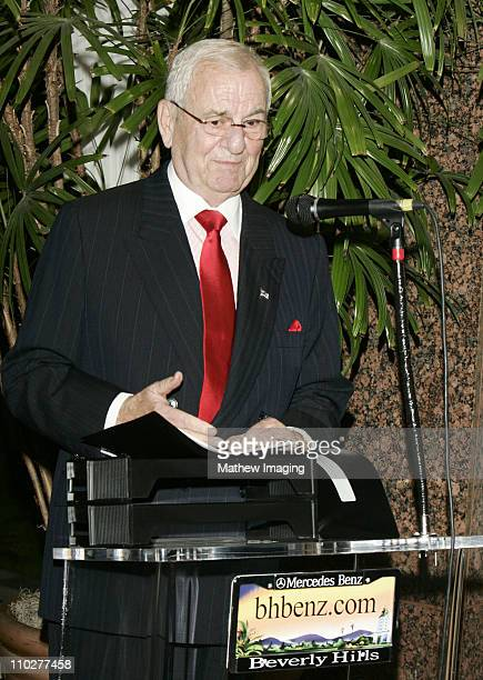 Lee Iacocca during The First Public Unveiling of the $300000 MercedesBenz Maybach 57 S at MercedesBenz of Beverly Hills in Beverly Hills California...