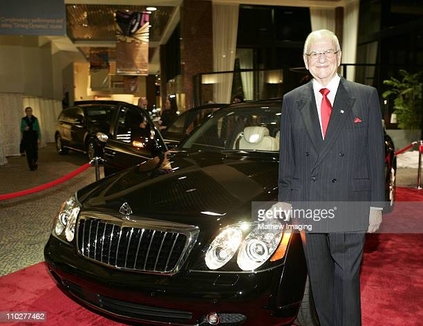 Lee Iacocca with the MercedesBenz Maybach 57 S during The First Public Unveiling of the $300000 MercedesBenz Maybach 57 S at MercedesBenz of Beverly...
