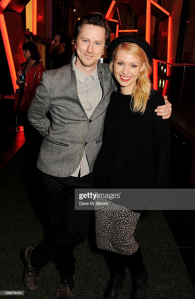 Lee Ingleby (L) and MyAnna Buring attend the UK Premiere of 'Sightseers' in association with Stella Artois at the London Transport Museum on November 26, 2012 in London, England.