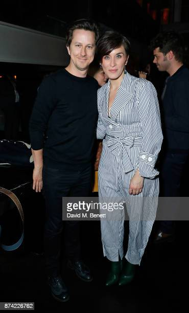 Lee Ingleby and Vicky McClure attend the unveiling of 'The Tree of Glass' by Lee Broom with Nude at Aqua Shard on November 14 2017 in London England