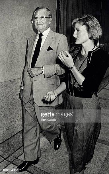 Lee Iococca and Lia Iococca during Lee Iacocca Sighting at the Waldorf Astoria in New York City August 25 1986 at Waldorf Hotel in New York City New...