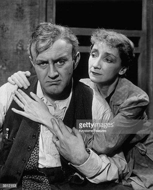 Lee J Cobb and Mildred Dunnock in a US production of Arthur Miller's 'Death Of A Salesman'