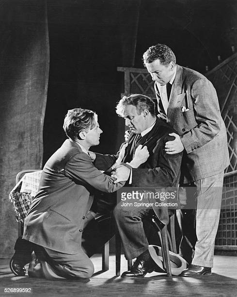 Lee J Cobb plays Willy Loman in the original stage production of Death of a Salesman by Arthur Miller