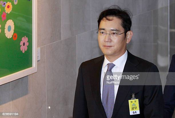 Lee Jae Yong of Samsung group vice chairman arrives during the President political scandal parliament hearing at national assembly in Seoul, South...