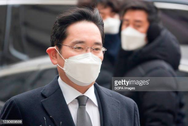 Lee Jae-Yong or Jay Y Lee , vice chairman of Samsung Electronics, arrives at the Seoul High Court to attend a sentencing hearing. The Seoul High...