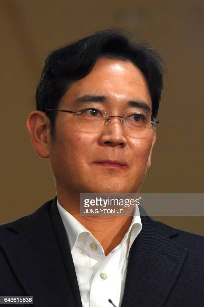 Lee Jae-Yong, vice chairman of Samsung Electronics, arrives for questioning at the office of a special prosecutor investigating a corruption scandal...