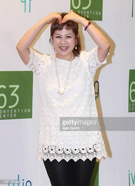 Lee JaYeon attends Jang YoonJung and Do KyungWan Wedding at 63 building convention center on June 28 2013 in Seoul South Korea