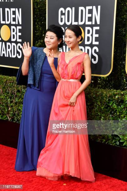 Lee Jeongeun and Cho Yeojeong attend the 77th Annual Golden Globe Awards at The Beverly Hilton Hotel on January 05 2020 in Beverly Hills California