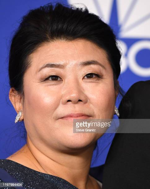 Lee Jeongeun poses in the press room at the 77th Annual Golden Globe Awards at The Beverly Hilton Hotel on January 05 2020 in Beverly Hills California