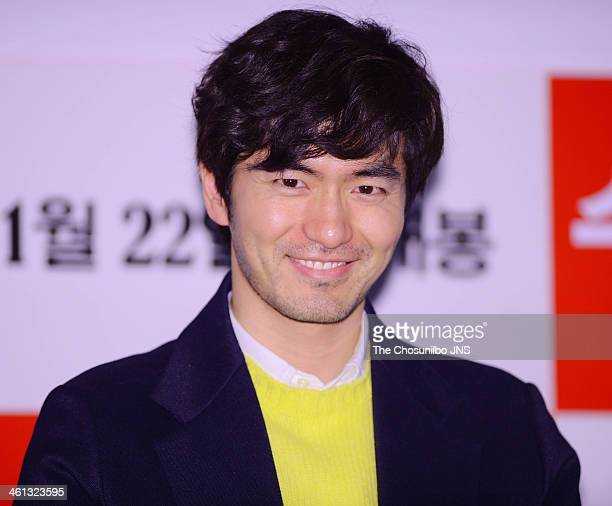Lee JinUk attends the movie 'Miss Granny' press conference at Wangsimni CGV on January 6 2014 in Seoul South Korea