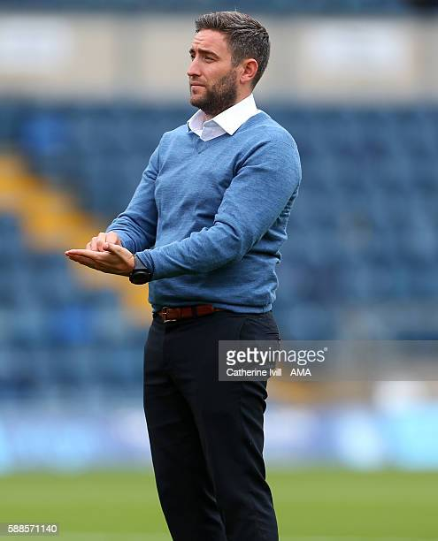 Lee Johnson manager of Bristol City during the EFL Cup match between Wycombe Wanderers and Bristol City at Adams Park on August 8 2016 in High...