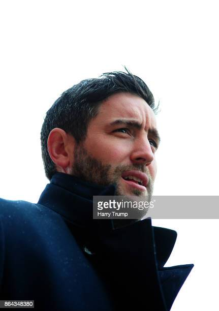 Lee Johnson Manager of Bristol City during the Sky Bet Championship match between Bristol City and Leeds United at Ashton Gate on October 21 2017 in...