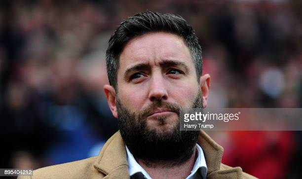 Lee Johnson Manager of Bristol City during the Sky Bet Championship match between Bristol City and Nottingham Forest at Ashton Gate on December 16...