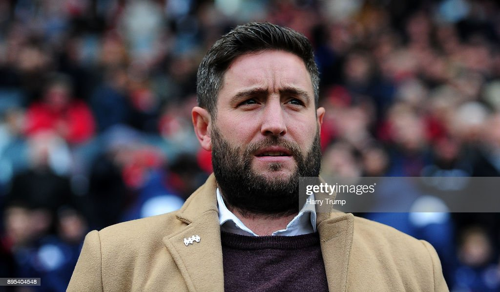 Lee Johnson, Manager of Bristol City during the Sky Bet Championship match between Bristol City and Nottingham Forest at Ashton Gate on December 16, 2017 in Bristol, England.