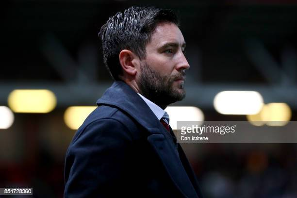 Lee Johnson manager of Bristol City looks on before the Sky Bet Championship match between Bristol City and Bolton Wanderers at Ashton Gate on...