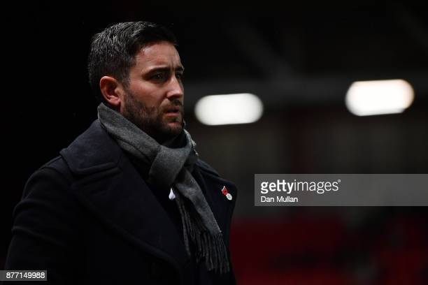Lee Johnson Manager of Bristol City looks on during the Sky Bet Championship match between Bristol City and Preston North End at Ashton Gate on...
