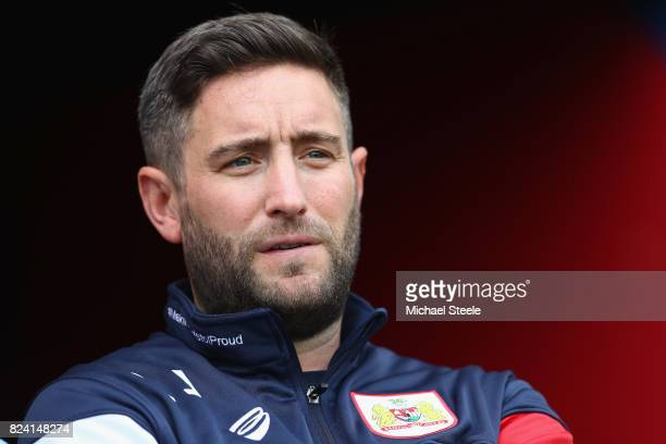 Lee Johnson the manager of Bristol City during the pre season match between Bristol City and FC Twente at Ashton Gate on July 28 2017 in Bristol...