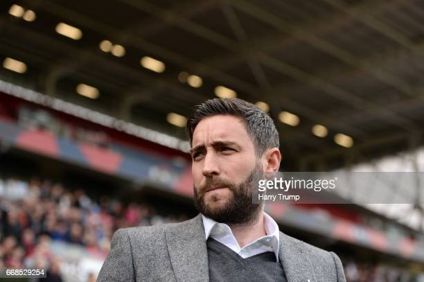 Lee JohnsonManager of Bristol City during the Sky Bet Championship match between Bristol City and Queens Park Rangers at Ashton Gate on April 14 2017...