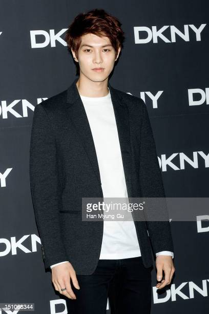 Lee JongHyun of South Korean boy band CNBLUE attends during the launch event of 'DKNY' 2012 F/W Collection Fashion Show on August 31 2012 in Seoul...