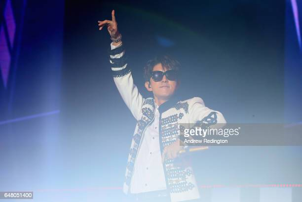 Lee Joon Gi performs at a concert following the third round of the HSBC Women's Champions on the Tanjong Course at Sentosa Golf Club on March 4 2017...