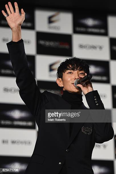 Lee Joongi attends the world premiere of 'Resident Evil The Final Chapter' at the Roppongi Hills on December 13 2016 in Tokyo Japan