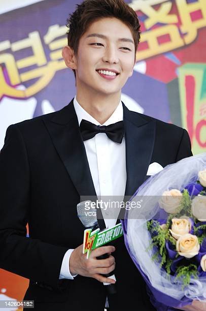 Lee Jun Ki attends the 19th Oriental Billboard Awards Ceremony at MercedesBenz Arena on April 7 2012 in Shanghai China