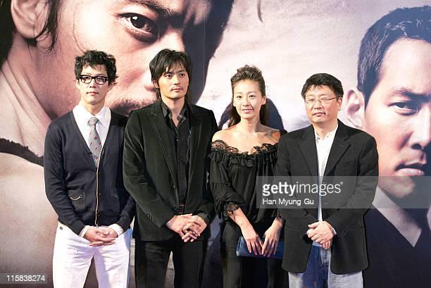 Lee Jung-Jae and Jang Dong-Gun and Lee Mi-Yun and Kwak Kyung-Taek, director