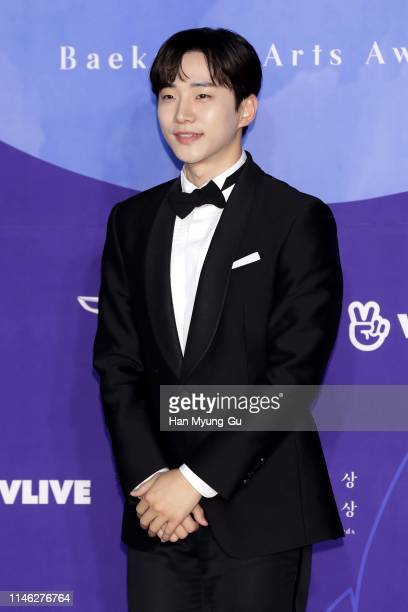 Lee JunHo of South Korean boy band 2PM attends the 55th Baeksang Arts Awards at COEX D Hall on May 01 2019 in Seoul South Korea