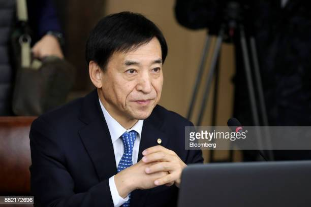 Lee Juyeol governor of the Bank of Korea attends a monetary policy meeting in Seoul South Korea on Thursday Nov 30 2017 BOK raised its benchmark...