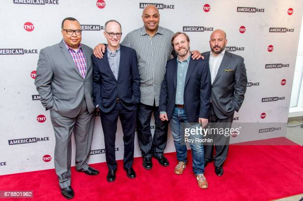 Lee K Gaither Marc Perman Charles Barkley Dan Partland and Michael Bloom attend the American Race Press Luncheon at The Paley Center for Media on May...