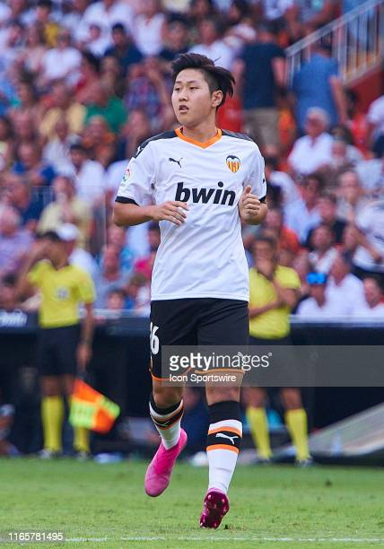 Lee Kangin midfielder of Valencia CF looks during the La Liga match between Valencia CF and RCD Mallorca at Mestalla stadium on September 01 2019 in...