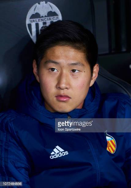 Lee KangIn midfielder of Valencia CF looks during the UEFA Champions League group stage H football match between Valencia CF and Manchester United FC...