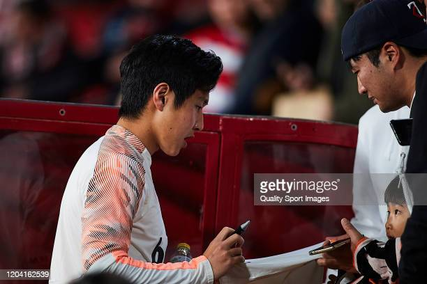 Lee Kangin of Valencia CF during the Copa del Rey quarter final match between Granada CF and Valencia CF on February 04 2020 in Granada Spain