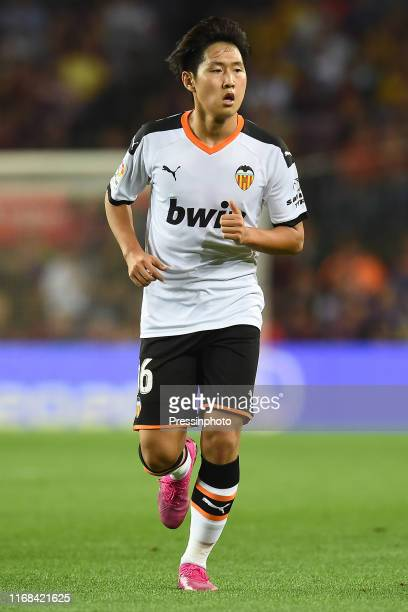 Lee KangIn of Valencia CF during the Liga match between FC Barcelon and Valence Club de Futbol on September 14 2019 in Barcelona Spain