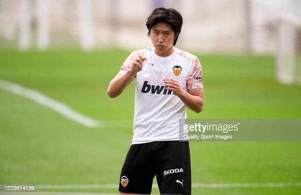 Lee Kangin of Valencia during a training session at Paterna Training Centre on May 09 2020 in Valencia Spain The La Liga clubs are largely back on...