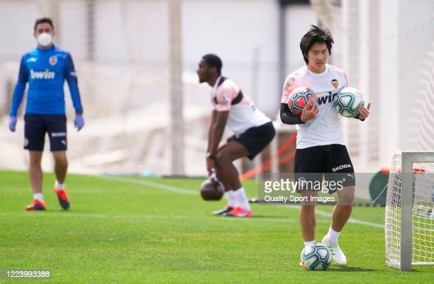 Lee Kangin of Valencia during a training session at Paterna Training Centre on May 10 2020 in Valencia Spain The La Liga clubs are largely back on...