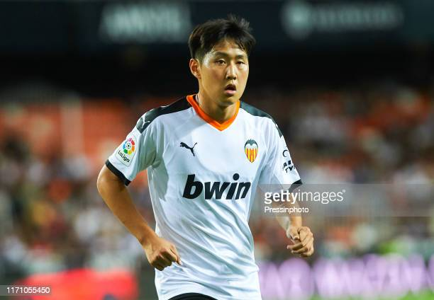 Lee KangIn of Valencia during the Liga match between Valencia and Getafe on September 25 2019 in Valencia Spain