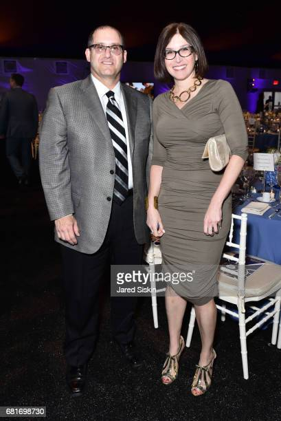 Lee Karlin and Andrea Lawrence attend Lincoln Center's 44th Annual Real Estate and Construction Council Gala at Damrosch Park Lincoln Center on May...