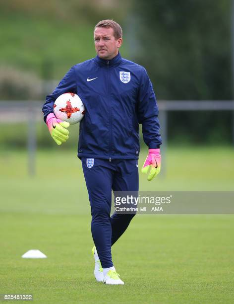 Lee Kendall goalkeeping coach for England Women during the England Training Session on August 2 2017 in Utrecht Netherlands