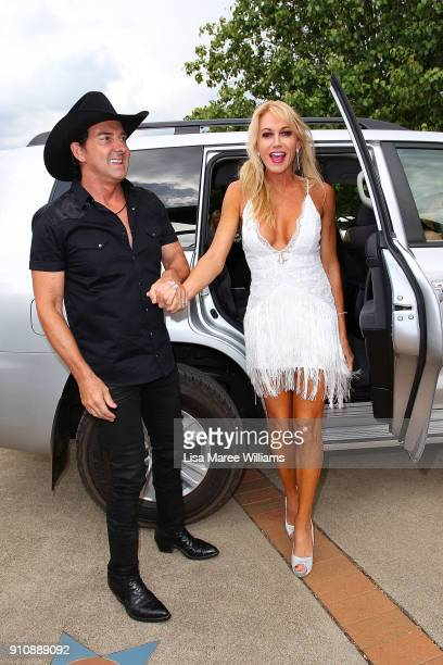 Lee Kernaghan and Robbie Kernaghan arrive at the 2018 Toyota Golden Guitar Awards on January 27 2018 in Tamworth Australia