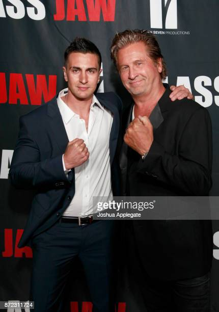 Lee Kholafai and Jeff Celentano at the premiere of 'Glass Jaw' at Universal Studios Hollywood on November 9 2017 in Universal City California