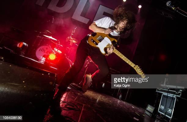 Lee Kiernan of Idles performs at The O2 Institute Birmingham on October 26, 2018 in Birmingham, England.