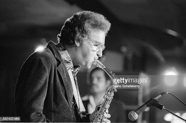 Lee Konitz alto saxophone performs on July 13th 1981 at the BIM huis in Amsterdam Netherlands