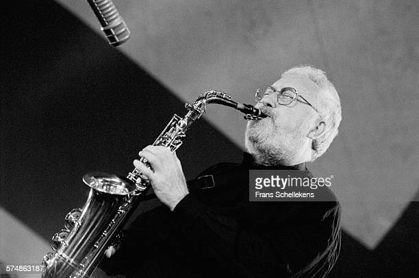 Lee Konitz alto saxophone performs on July 14th 1995 at the North Sea Jazz Festival in the Hague the Netherlands