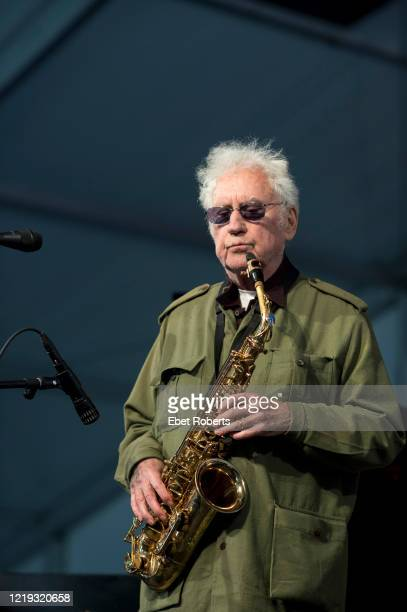 Lee Konitz performs at the New Orleans Jazz and Heritage Festival at the Fair Grounds Race Course in New Orleans Louisiana on May 4 2017